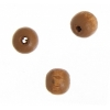 Wooden Bead Round 6mm Coffee Lacquered